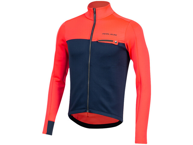 PEARL iZUMi Interval Thermische Longsleeve Jersey Heren, atomic red/navy